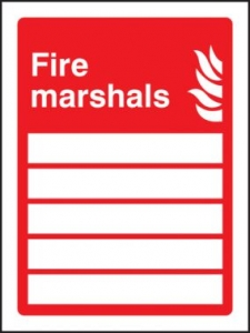 Fire Marshals Space For 5 People Sign Self Adhesive