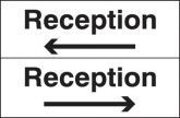 Reception Sign (With Arrow)