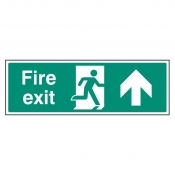 Fire Exit Up/Straight On Sign