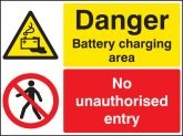 Battery charging no unauthorised entry