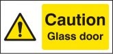 Caution glass door Warning Sign