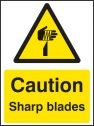 Caution sharp blades Sign