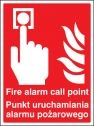 Fire alarm call point (English Polish) Sign