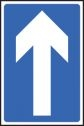 One way traffic road sign