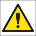 Self Adhesive labels warning exclamation