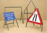 Sign frame 750mm triangle with supplementary plate