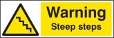 Warning Steep Steps Signs