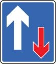 Vehicle priority road sign (811)