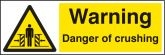 Warning Danger of crushing Sign