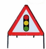 Traffic Lights Triangle Temporary Road Sign