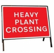 Heavy Plant Crossing Traffic Temporary Road Sign