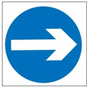 Turn Right Sign (606)