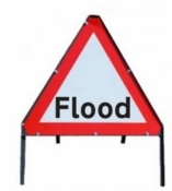 Flood Temporary Road Sign