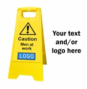 Personalised Yellow Self Standing Sign - Men At Work