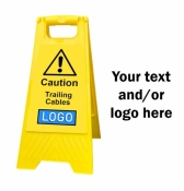 Personalised Yellow Self Standing Sign - Trailing Cables