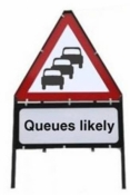 Queues Likely Triangle Sign With Suppementary Plate