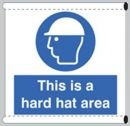 This is a hard hat area sign - Scaffold Safety Banner