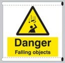 Danger falling objects sign - Scaffold Safety Banner
