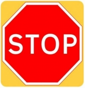 STOP High Visibility Road Sign (601.1)