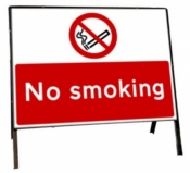 No smoking Freestanding Road Sign