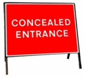 Concealed Entrance Freestanding Road Sign