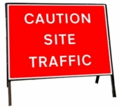 Caution Site Traffic Freestanding Road Sign