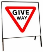 Give Way Self Standing Sign