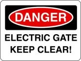 Danger Electric Gate Red & Black Sign