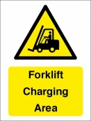Forklift charging area sign