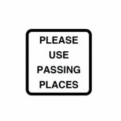 Please use passing places