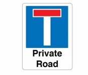 No through road Private Road Signs