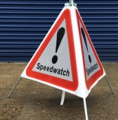 Police Approved Temporary Speedwatch Signs