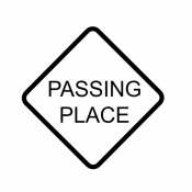Passing Places Diamond Sign