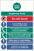 Stay safe suspicious items info