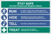 Stay safe run hide tell treat sign