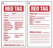 6S Red Tags 80x150mm c/w cable ties