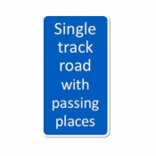 Single Track Road with Passing Place