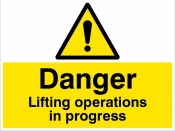 Danger Lifting operations in progress Sign