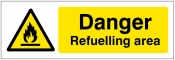 Danger refuelling area Sign