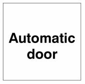 Automatic door Double sided self adhesive window sticker 150x150mm