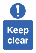 Keep clear Double sided self adhesive window sticker 150x220mm