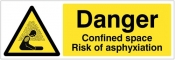 Danger Confined space Risk of asphyxiation Sign
