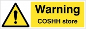 Warning COSHH store Sign