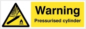 Warning Pressurised cylinder Sign