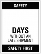 Updateable Dry-Wipe Days without an accident Sign