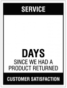 Updateable Dry-Wipe Days since product run Sign