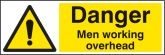 Danger men working overhead Sign (4202)
