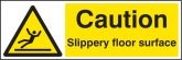 Caution slippery floor surface Sign (4213)