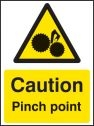 Caution pinch point Sign (4283)