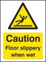 Caution floor slippery when wet Sign (4287)